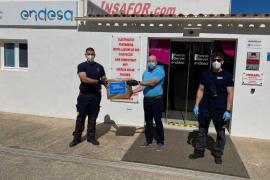 Endesa entrega 500 mascarillas al Consell de Formentera