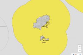 La Aemet activa el aviso amarillo por fenómenos costeros en las Pitiusas