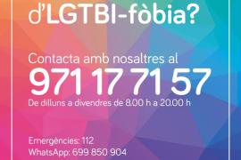 Cartel de ayuda a la LGTBIfobia.
