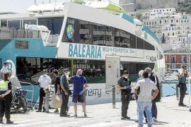 lmpedida la entrada de 34 pasajeros para viajar a Formentera por falta de justificación