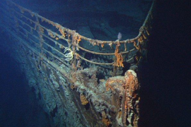 Los restos del Titanic, que descansan en el fondo del Atlántico Norte