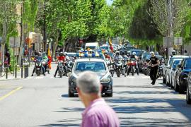 La manifestación motorizada de Vox congrega en Ibiza a más de 150 vehículos