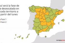 El 53% de los españoles sigue en fase 1