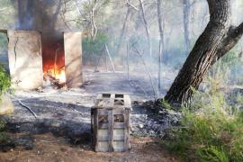 Sobresalto por una quema descontrolada en Sant Josep