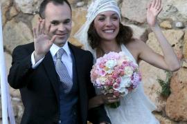 Andrés Iniesta en su boda con Anna Ortiz