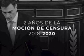 Casado recuerda los dos años de la «injusta» moción de censura de Sánchez
