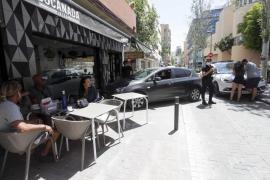 La aparatosa colisión entre dos vehículos en la ciudad de Ibiza, en imágenes (Fotos: Daniel Espinosa).