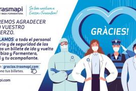 Trasmapi regala más de 2.000 trayectos Ibiza-Formentera a sanitarios y policías
