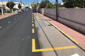 El PSOE critica la mala ejecución del asfaltado de la avenida de Cap Martinet