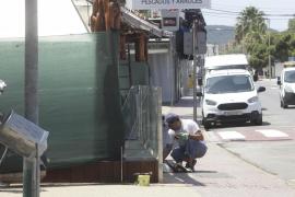 Imágenes de Platja d'en Bossa desierta por el coronavirus (Fotos: Daniel Espinosa).
