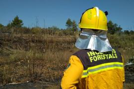 El incendio forestal en Sant Miquel, en imágenes