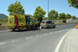 Muere un conductor en Ibiza tras sufrir un infarto y chocar contra otro coche