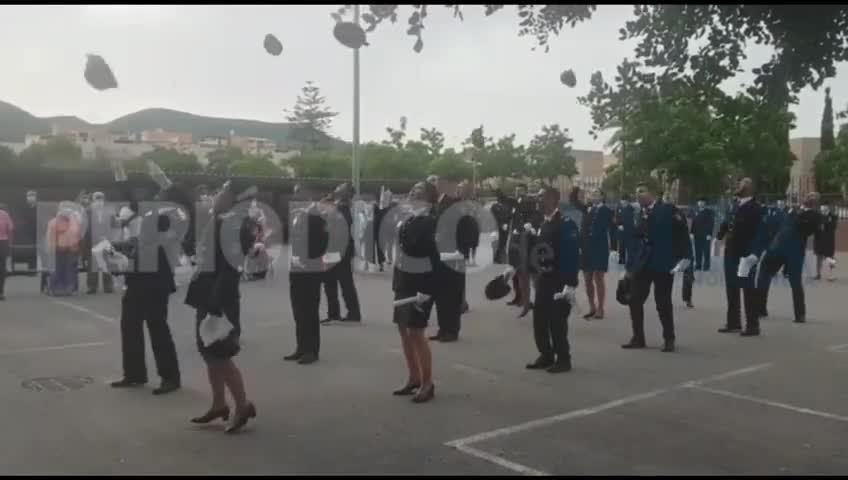Emotiva jura de 18 nuevos policías forjados en el estado de alarma en Ibiza