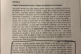 Críticas al contenido «independentista» del examen de catalán de la selectividad