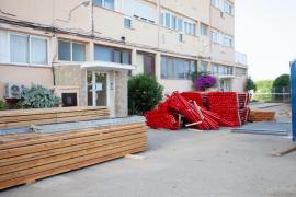 Los trabajos en los apartamentos Don Pepe, en imágenes. (Fotos: Daniel Espinosa)