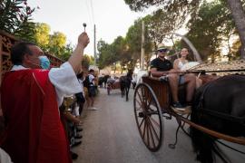 Fiesta patronal de Sant Cristòfol en Es Canar en la nueva normalidad