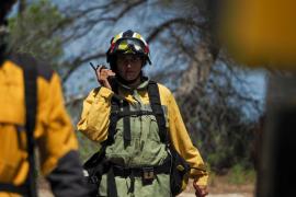 El incendio en Cala Bassa, en imágenes.