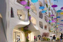 El último despropósito de Dubái es una calle en la que 'llueve' cuando la temperatura sube de 27 grados