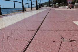 Santa Eulària pide a Costas que proteja de forma «urgente» el paseo marítimo
