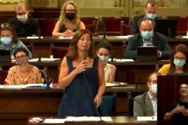 Armengol remarca que el plan de recuperación de Baleares no contempla subida de impuestos