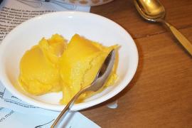 Receta fácil y rápida de sorbete de mango
