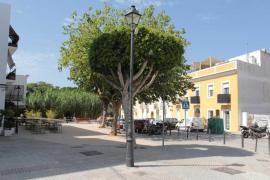 Santa Gertrudis estrena 'Plaça Nova', una de las tres obras en marcha en el pueblo