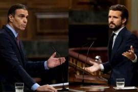 Sánchez carga contra Casado por ir contra los intereses de España