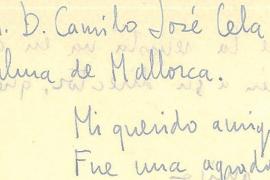 Localizada la correspondencia entre Camilo José Cela y Marià Villangómez