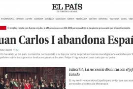 ¿Qué publica la prensa nacional sobre la salida del Rey Juan Carlos?