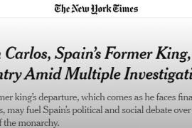 Repercusión internacional a la marcha de Juan Carlos I