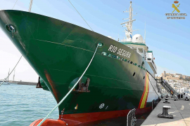 El patrullero oceánico 'Río Segura' opera desde ayer en aguas de las Pitiusas