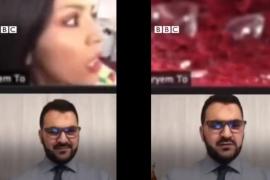 Una periodista, alcanzada por la onda expansiva de la explosión en Beirut durante una entrevista