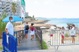 Sant Antoni contrata a dos personas para reforzar el control del aforo de playas