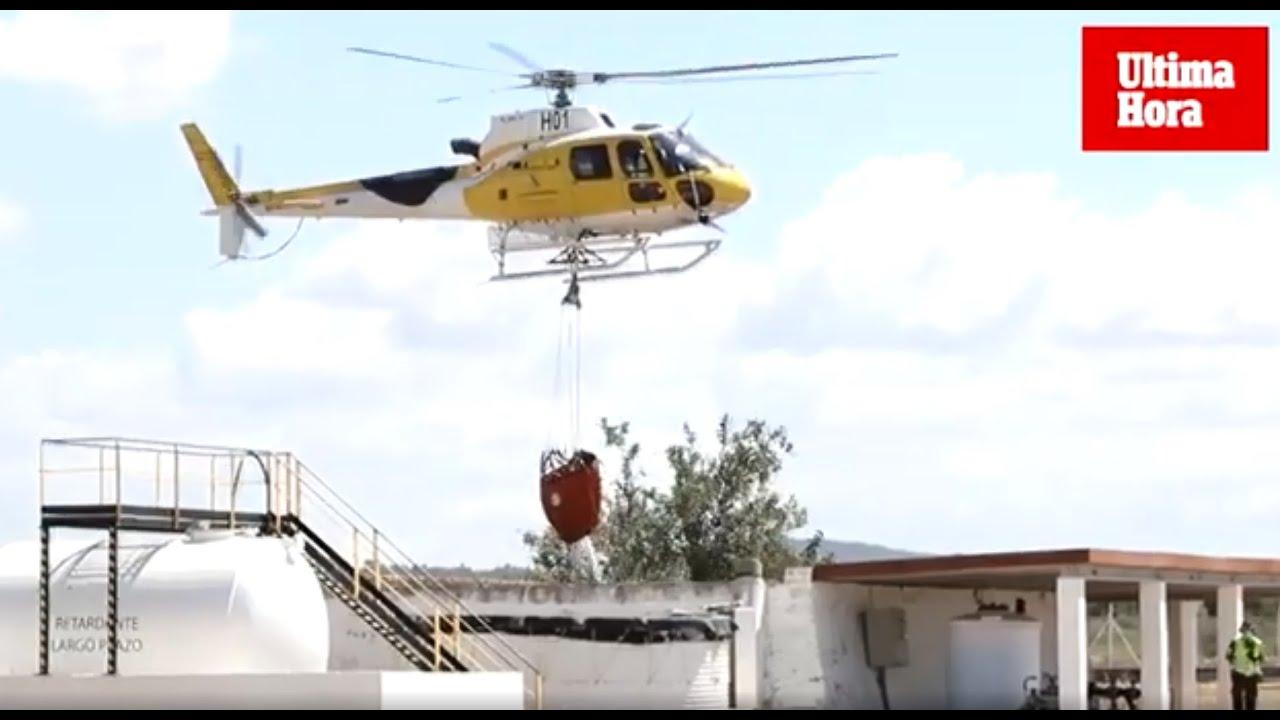 Ibiza incorpora un nuevo helicóptero contra los incendios forestales