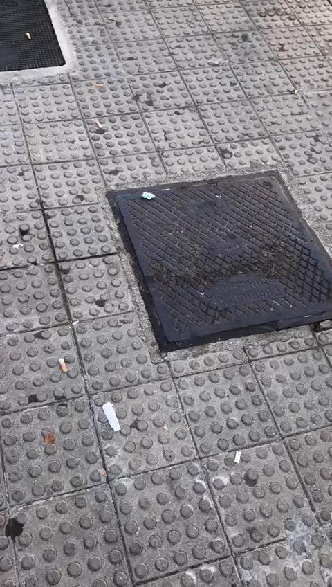Suciedad en avenida España de Ibiza a las 10.30 horas