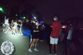 Interpuestas un total de 34 denuncias en Ibiza por participar en botellones y no usar mascarilla