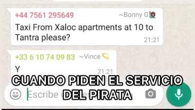 Así es el 'modus operandi' de los grupos de mensajería de los 'taxis pirata' en Ibiza