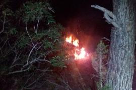 Sobresalto por un incendio forestal en sa Sal Rossa