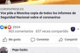El community manager de la Policía Local de Palma llama «putos nazis» a Vox