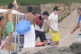 Fernando Alonso pasa unos días en la Costa de los Pinos