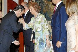 Cena ofrecida por la Familia Real a las autoridades de las Islas baleares