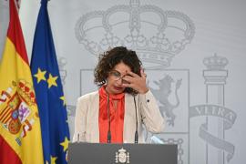 Rueda de prensa de María Jesús Montero tras el encuentro entre Casado y Sánchez