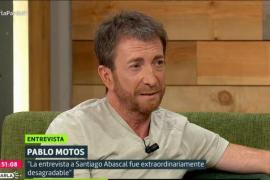 Pablo Motos detalla su «tensa» entrevista a Abascal
