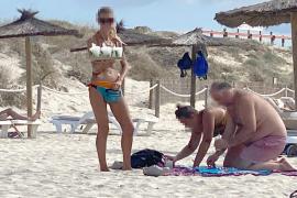 Venta ambulante en Formentera pese al coronavirus