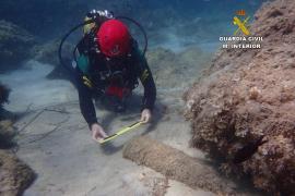 La Guardia Civil ha señalizado siete artefactos en aguas de Baleares para su destrucción