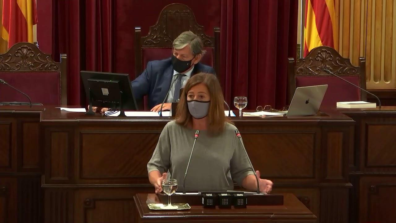 EN DIRECTO | Armengol comparece en el Parlament para explicar la gestión de la COVID