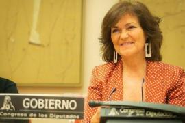 Carmen Calvo anula el viaje e intervendrá 'online' en la iniciativa Aulas Feministas
