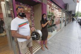 Los comerciantes de Eivissa Centre protestan por el 'confinamiento'