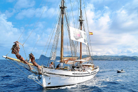Una armada pacífica unida para limpiar el mar y la bahía de Sant Antoni