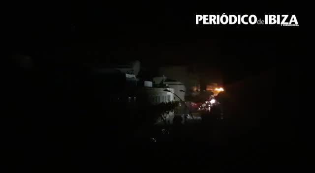 Sobresalto entre los vecinos de Ibiza por un fuerte apagón a medianoche